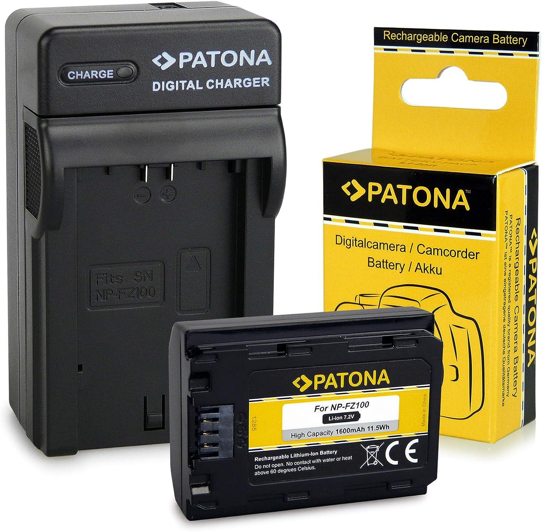 PATONA 3en1 Cargador + Batería NP-FZ100 Compatible con Sony Alpha 9 / Alpha 7RM3 / 7M3 / A7 R III/Sony BC-QZ1