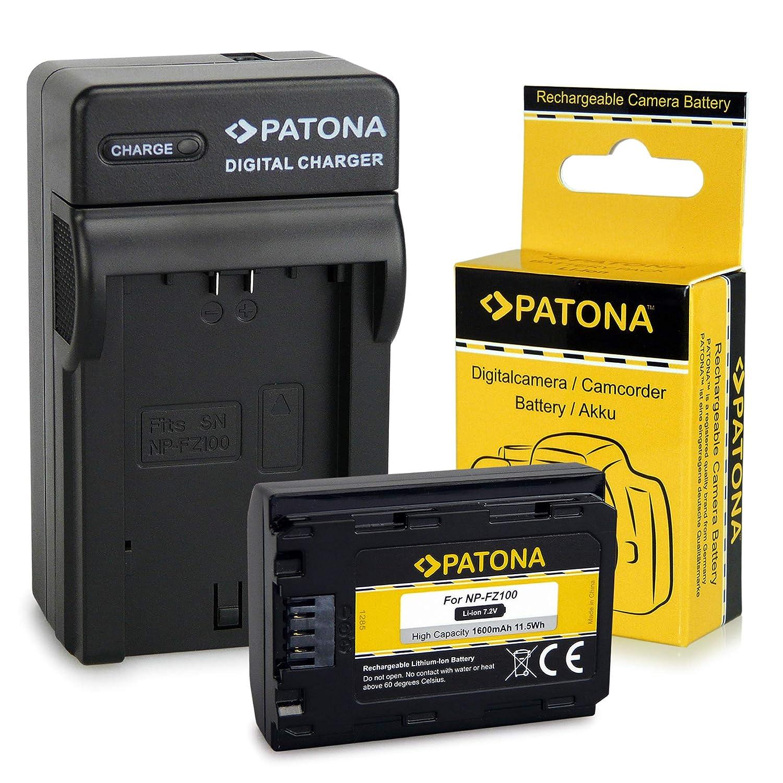 PATONA 3en1 Cargador con Batería NP-FZ100 para Sony Alpha 9 / Alpha 7RM3 / 7M3 / A7 R III/Sony BC-QZ1