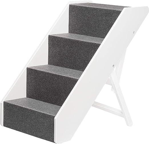 UPP® Escalera para mascotas I escalera de madera maciza para ...
