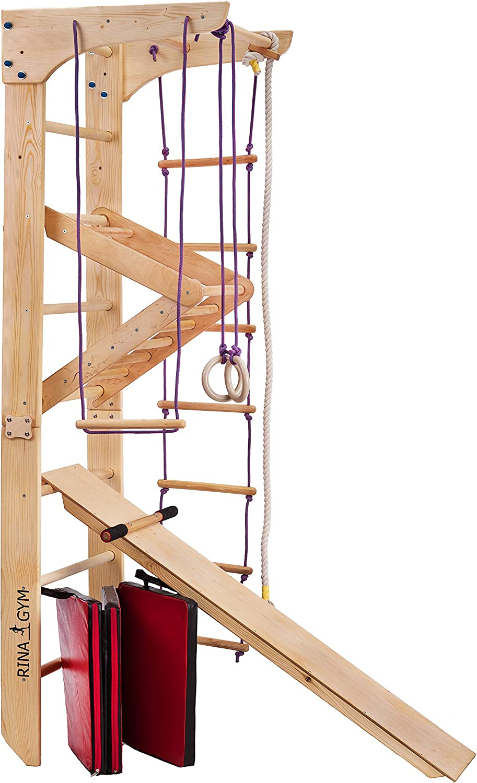 RINAGYM GmbH Escalera Sueca Barras de Pared Kinder-3-240, Gimnasia de los Niños en casa, Complejo Deportivo de Gimnasia: Amazon.es: Deportes y aire libre