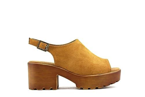 c1a9656b765 MODELISA Sandalia Plataforma Cerrada Mujer  Amazon.es  Zapatos y ...