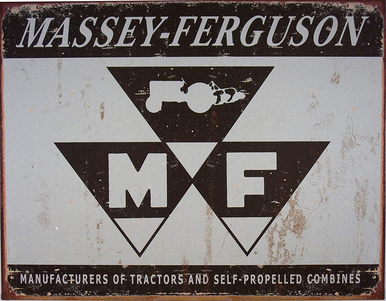 Borismotley Grande ferme tracteur Massey Ferguson vintage r/étro en m/étal /Étain plaque murale