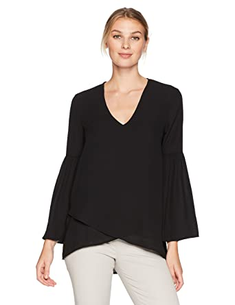 f09ed50e13ca Karen Kane Women's Crossover Bell Sleeve Top at Amazon Women's Clothing  store:
