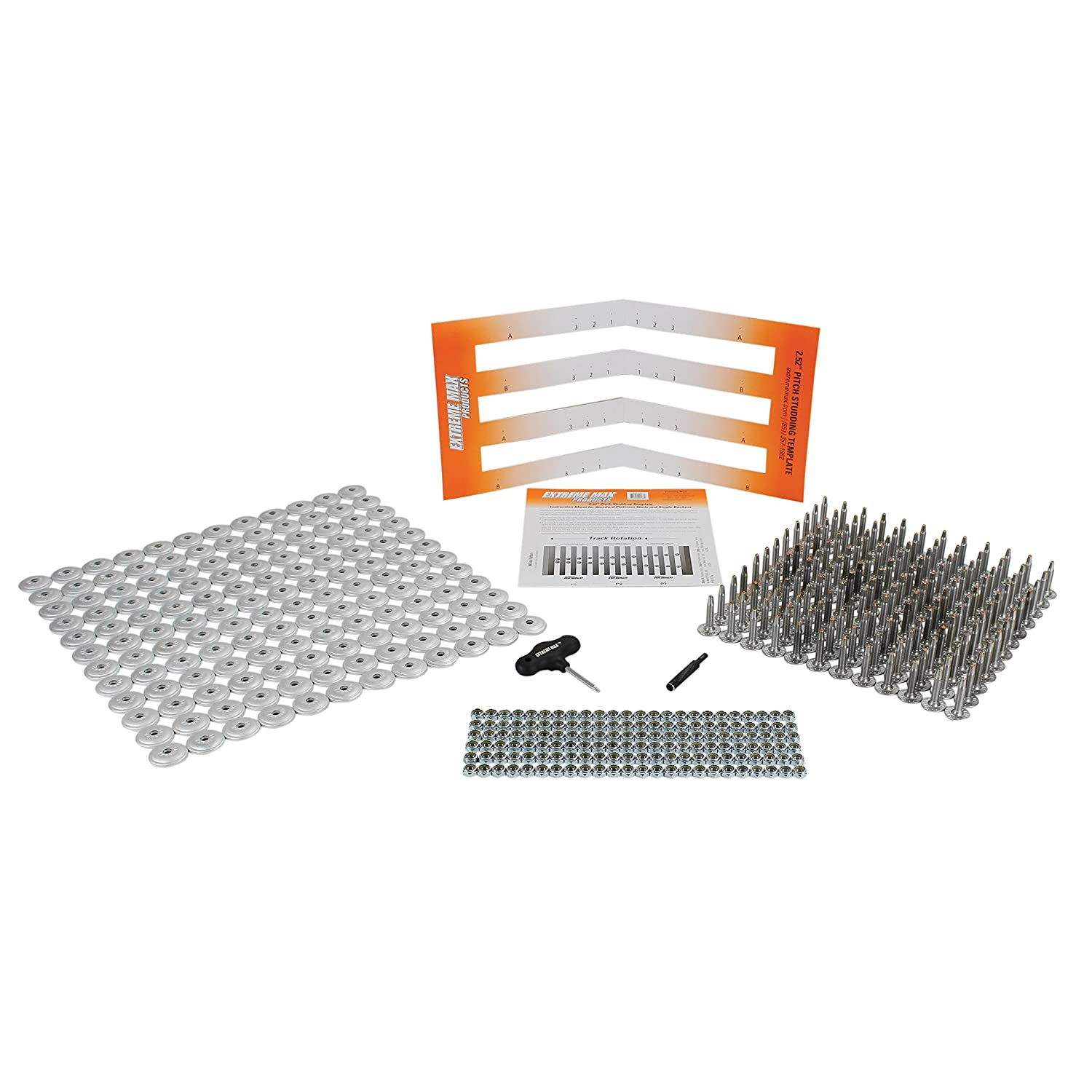 1.625 Stud Length Extreme Max 5001.5508 120-Stud Track Pack with Round Backers
