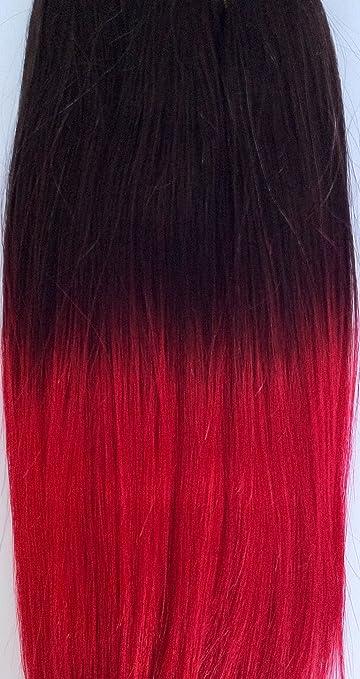 Amazon Com Dip Dye Hair Extensions 72 Weft Full Head