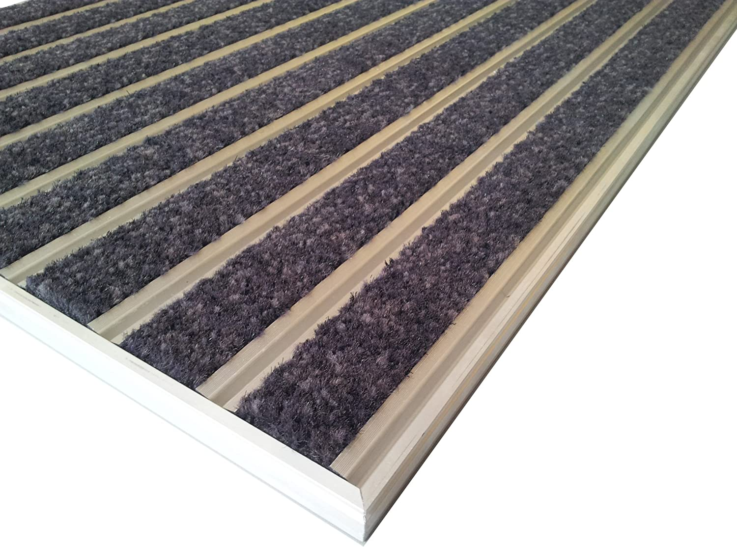 Anthracite Color. for recessed Installation in mat Well Size 70 x 50 cm Including matwell Frame Professional Aluminium Entrance Matting System HD60 Carpet