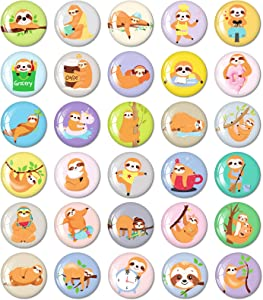 MORCART Sloth Magnets for Refrigerator Cute Locker Fridge Magnets Funny Kitchen School Cabinets Classroom Whiteboard Office Cubicle Magnetic Board Decorative Magnets Gifts for Adults Kids 30PCS