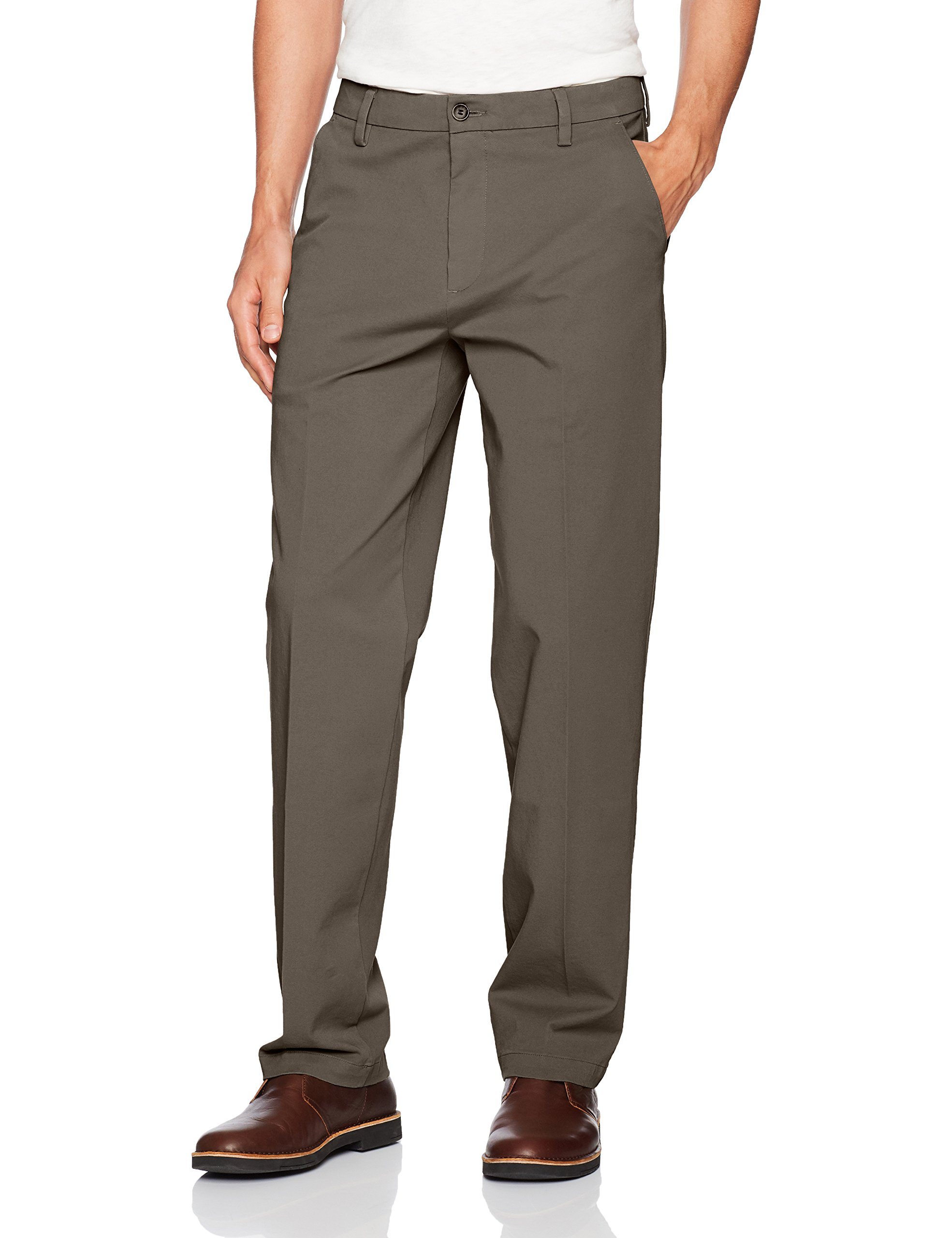 Dockers Men's Classic Fit Workday Khaki Smart 360 Flex Pants D3, Dark Pebble (Stretch), 30W x 30L