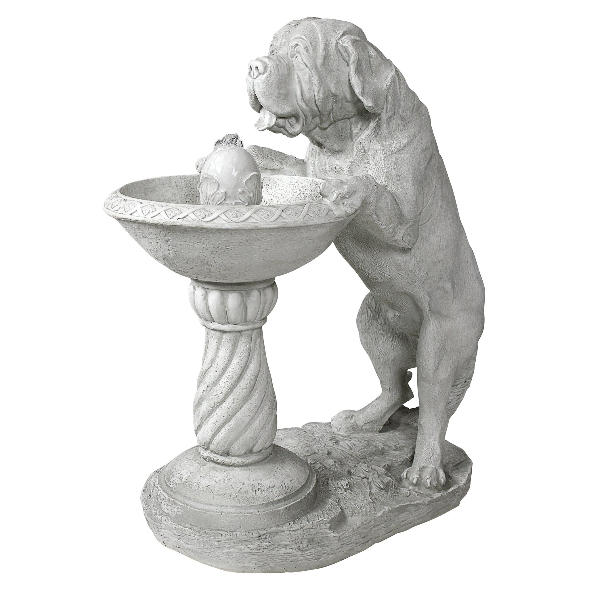 Water Fountain - 3 Foot Tall Quenching a Big Thirst Garden Decor Dog Fountain - Outdoor Water Feature