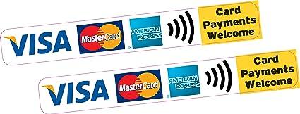 2 x los pagos de tarjeta de bienvenida para tarjetas de ...