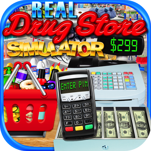 Real Drugstore, Credit Card & Cash Register Simulator - Kids Supermarket Games FREE