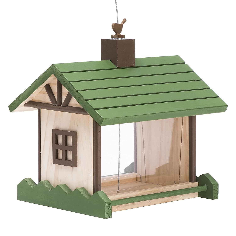 Opus 50179 Vogelfutterspender Berghütte, grün/beige grün/beige