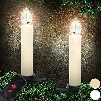 1-100 X  Kabellose LED Weihnachtskerzen Lichterkette Kabellos Christbaum kerzen