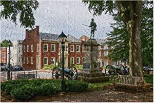 Charlottesville, Virginia - Historic Court Square Brick Building & Statue 9005599 (Premium 500 Piece Jigsaw Puzzle for Adults, 13x19, Made in USA!)