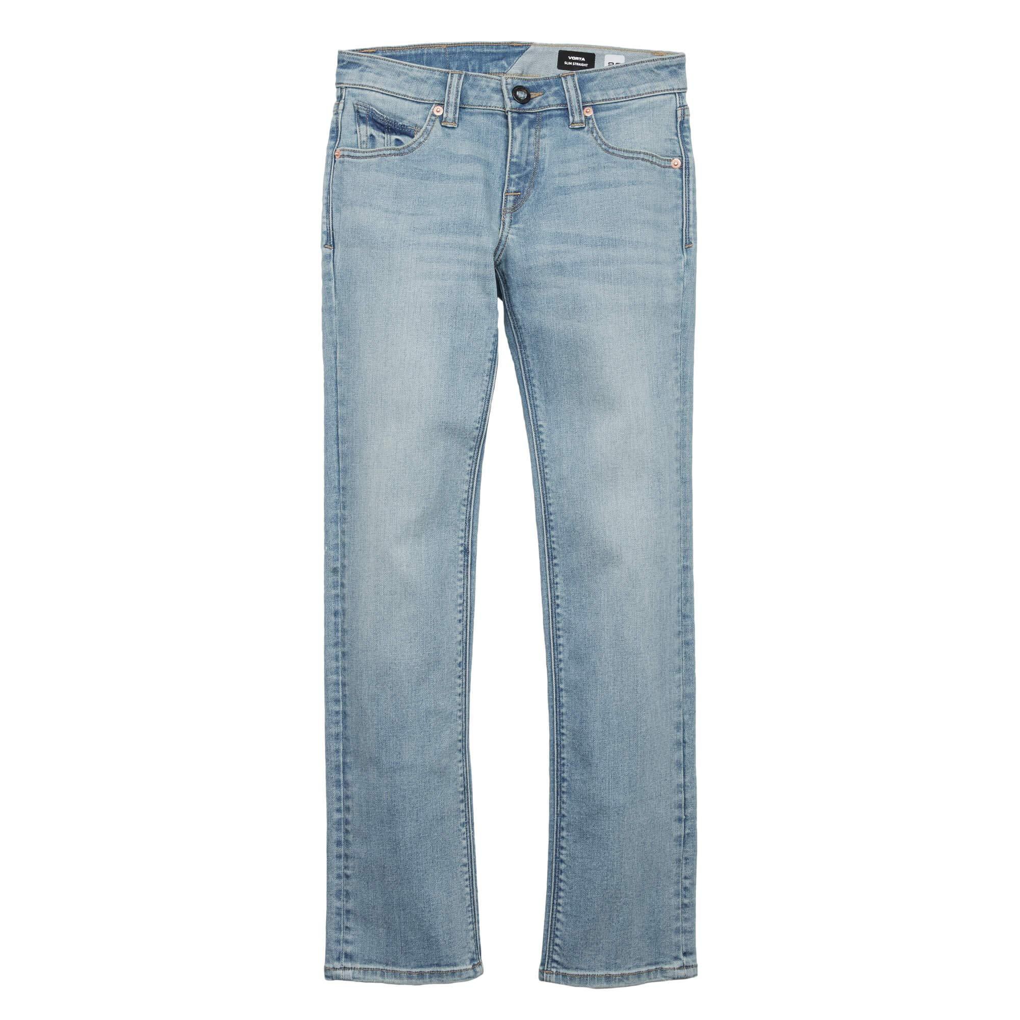 Volcom Big Boys Vorta Denim Jeans, Allover Stone Light, 25