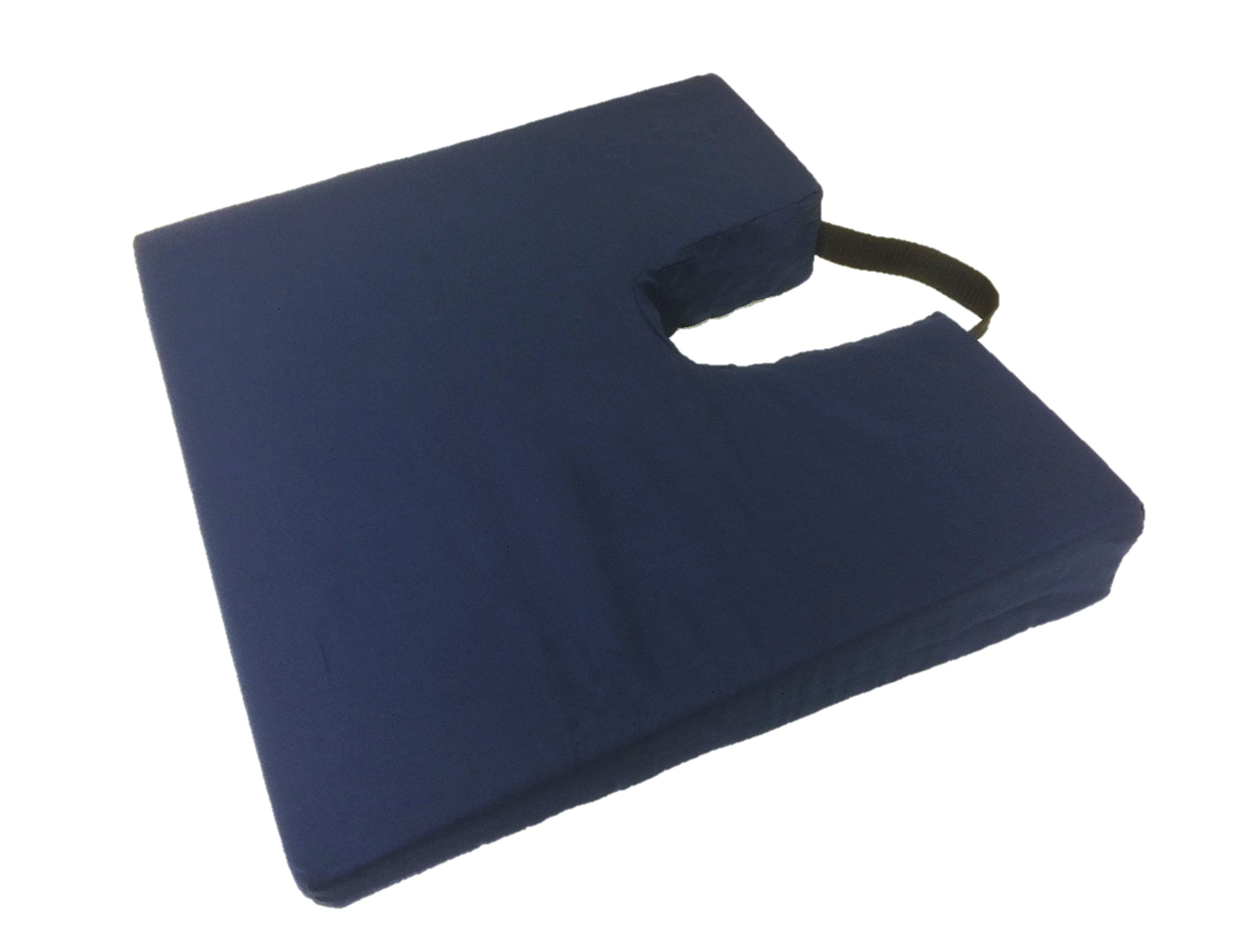 Geneva Healthcare Sloping Coccyx Cushion with Handle - 16'' x 18'' x 3''>1'' - 1/EA
