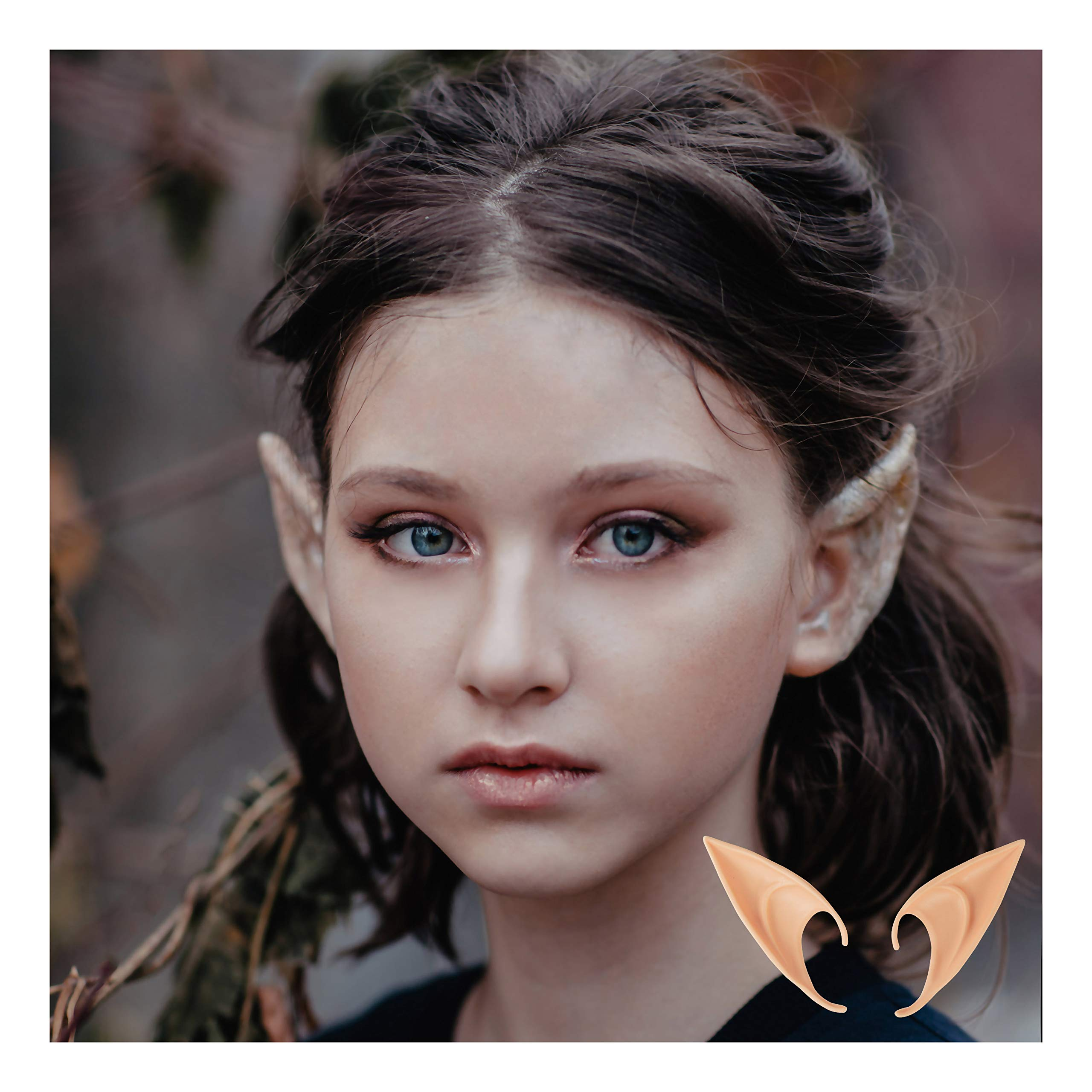 AIYUE 2 Pair Soft Elf Ears Vampire Ears Cosplay Accessories Fairy Pixie Pointed Prosthetic Ear Set by AIYUE