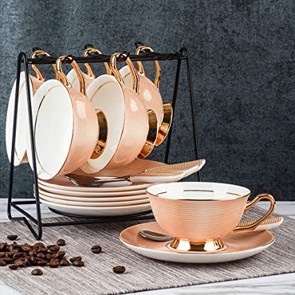 LY-coffee cup Set de Taza de café de Cerámica Europeo Set de Taza de
