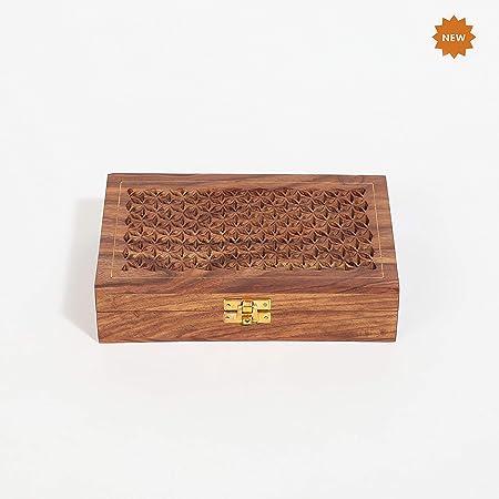 Rusticity Caja de joyería Decorativa de Madera – intrincado ...