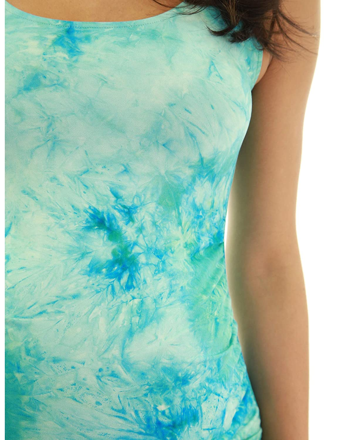 PattyBoutik Mama Tie-Dye//Solid Scoop Neck Maternity Tank Dress