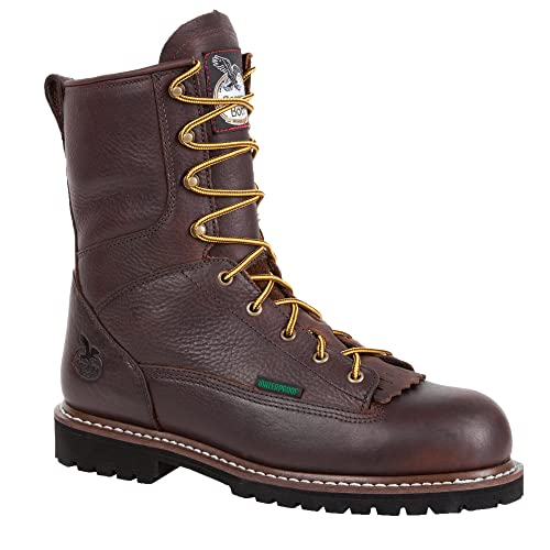 d8fa5f6ca5d Georgia Men's Waterproof Low Heel Steel Toe Logger Work Boot-G103