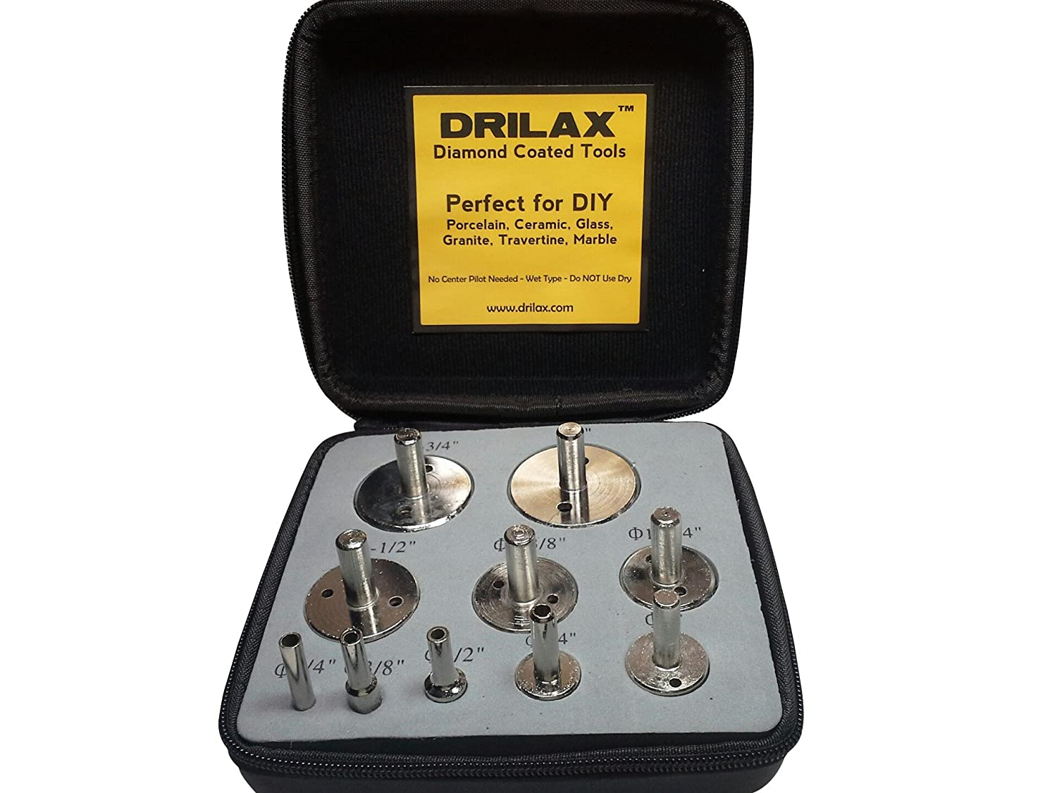 Amazoncom Drilax Pcs Diamond Drill Bit Set Hole Saws For - Cutting holes in tile for plumbing