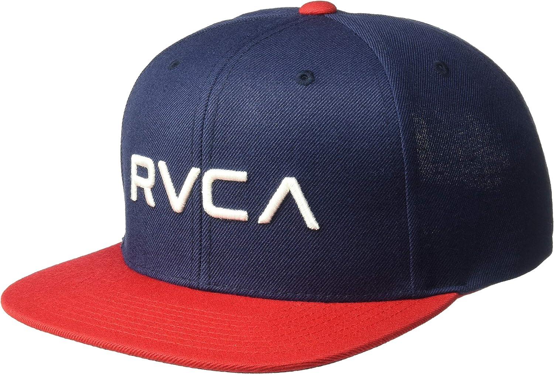 RVCA - Gorra de béisbol para Hombre Azul Marino y Rojo Talla única ...