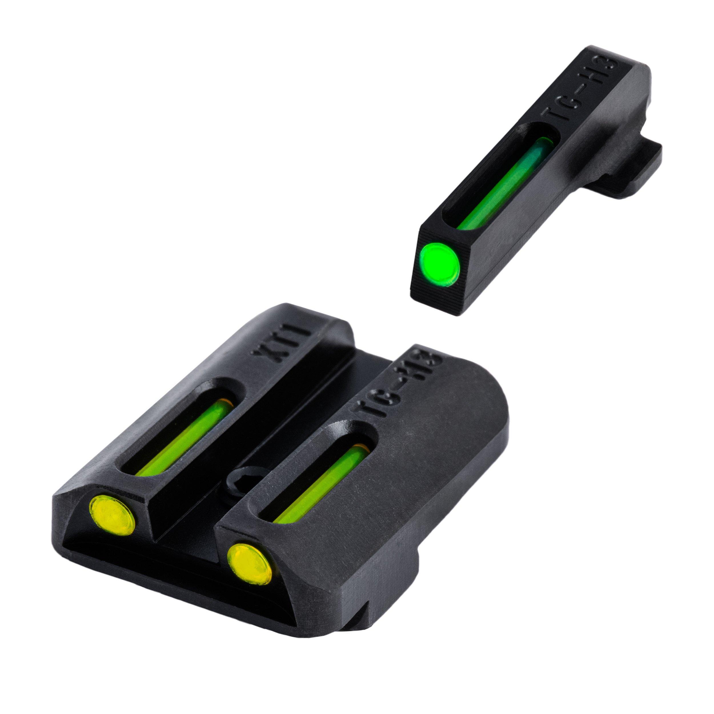 TRUGLO TFO Handgun Sight Set - Springfield XD, XDM, XDS - Green/Yellow Rear by TRUGLO