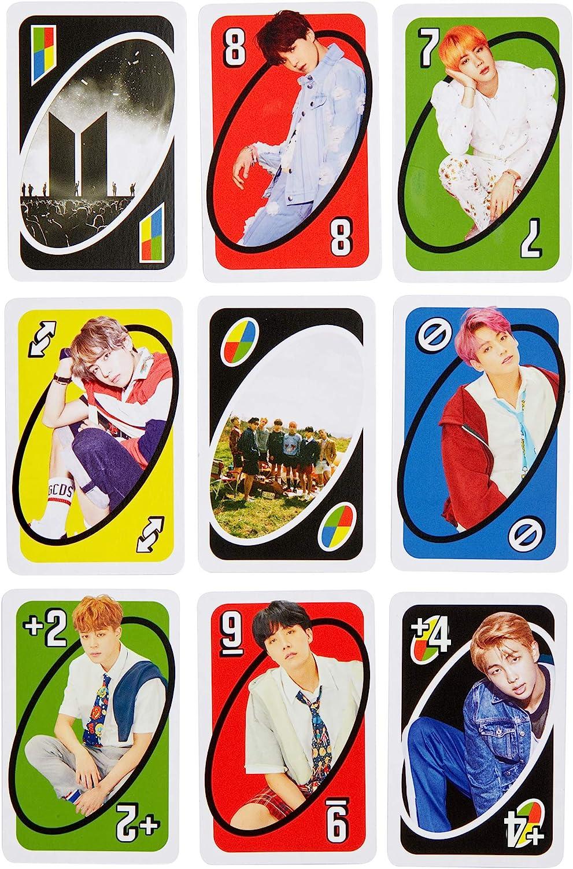 Mattel - Games UNO BTS, juego de cartas del grupo de música ...