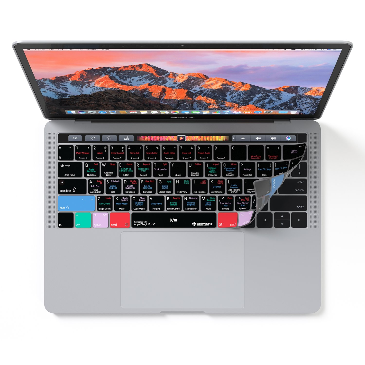 logic pro x keyboard cover for macbook pro touch bar 13 15 model. Black Bedroom Furniture Sets. Home Design Ideas