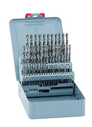 alpen 101250100 - Kit de brocas espirales (HSS Cobalt, cortas, DIN 338 RN, diámetro 1-5,9 x mm y 0,1 mm, 50 piezas en estuche de metal): Amazon.es: Industria, empresas y ciencia