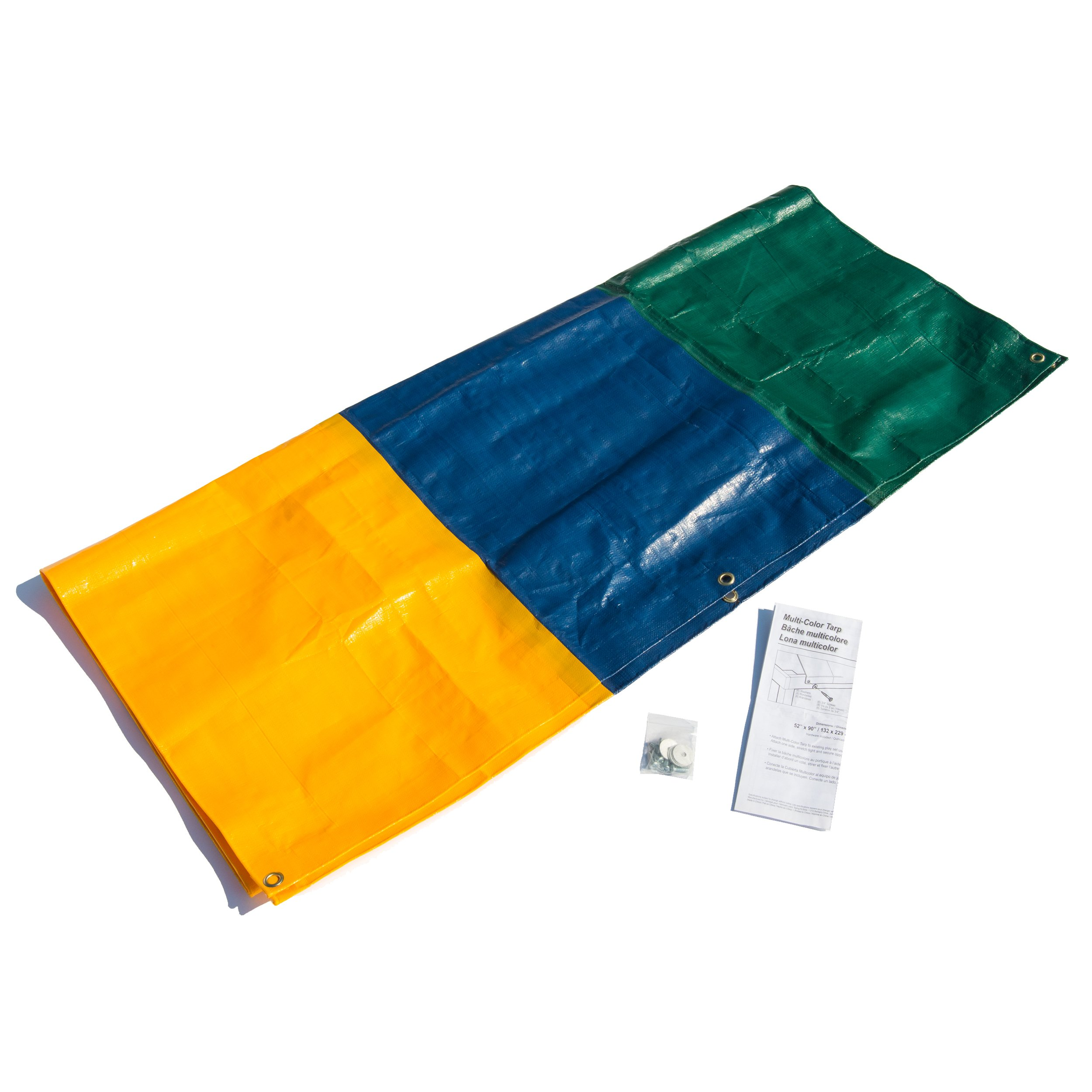 52'' x 90'' Multi-Color Swing Set Replacement Tarp