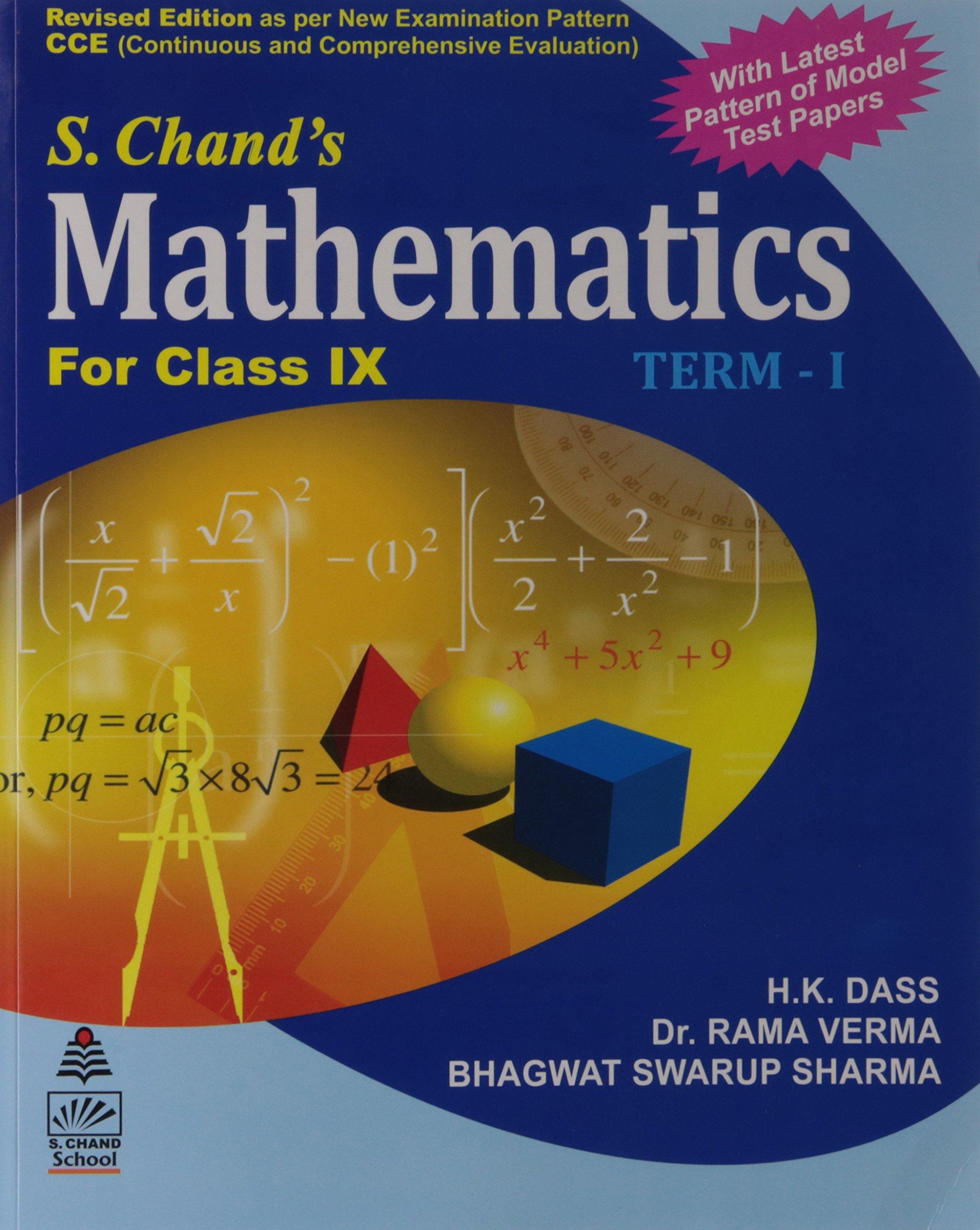 Mathematics For Class 9 Term I H K Dass 9788121927383 Amazon