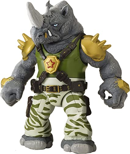 Amazon Com Teenage Mutant Ninja Turtles Rocksteady Figure Toys