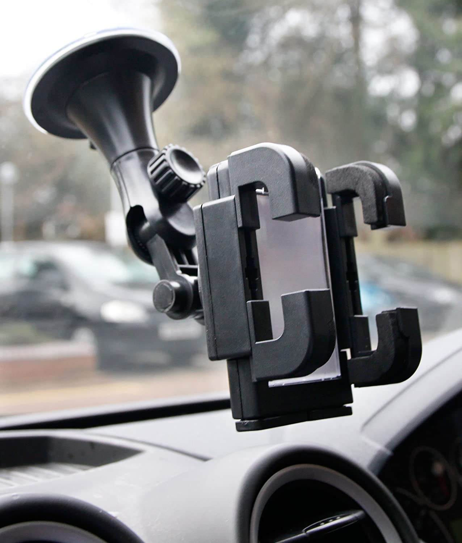 DURAGADGET Soporte para GPS Tomtom GO 520 World 5 con Abrazaderas y Fuerte Ventosa Rotaci/ón 360 Grados Awesafe 7 Floureon 7 ES-232136801