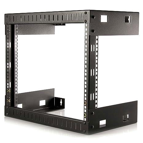 StarTech com 8U Open Frame Wall Mount Network Rack - 2-Post 12