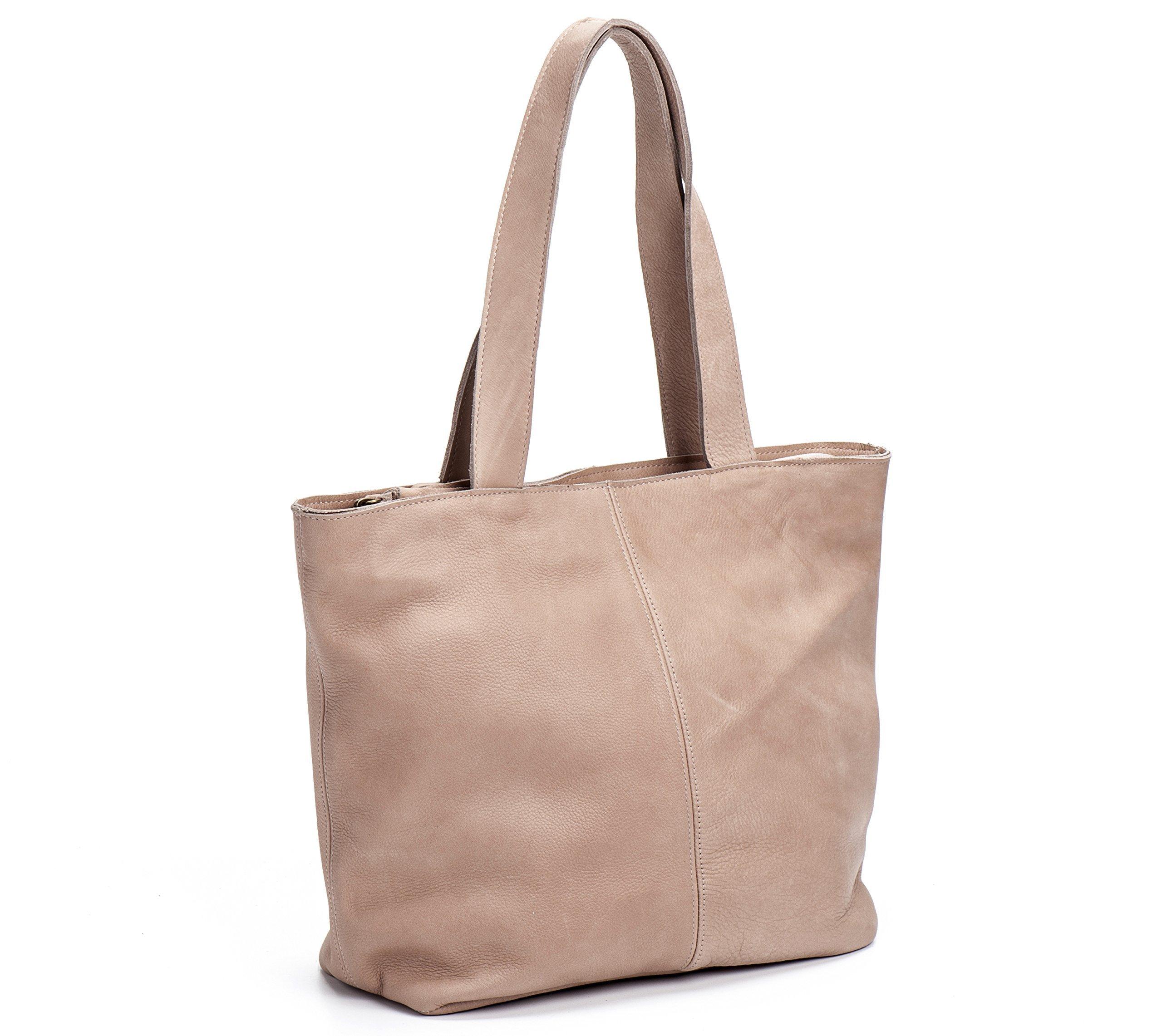 Handmade Designer Blush Genuine Leather Tote Bag by MeitaLev