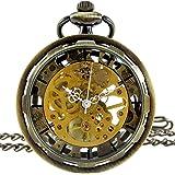 [モノジー] MONOZY 手巻き 機械式 懐中時計 (2) ブロンズ)