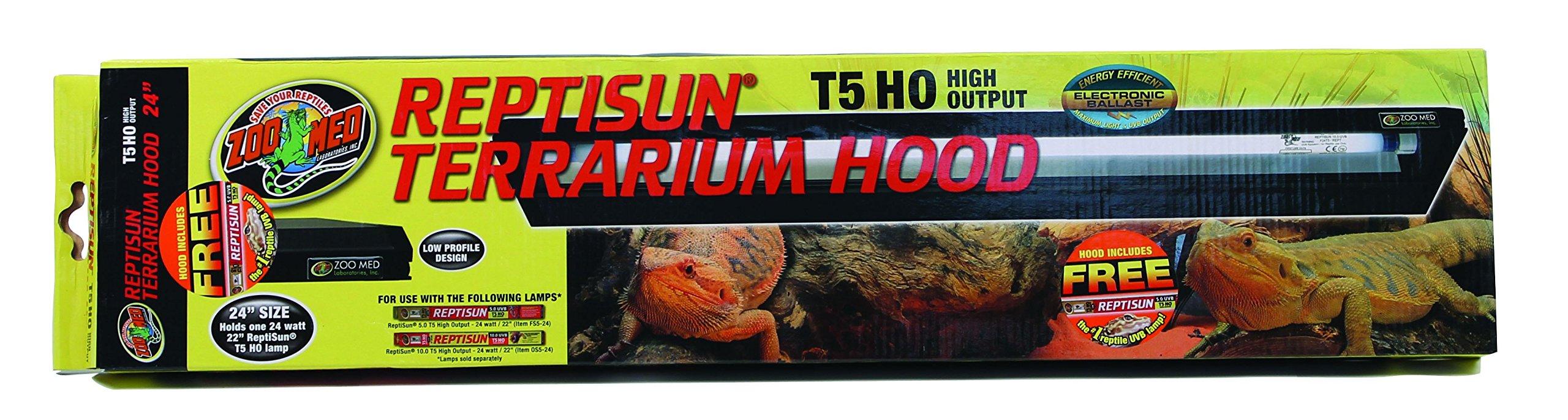 Zoo Med 26053 Reptisun T5-Ho Terrarium Hood, 24″