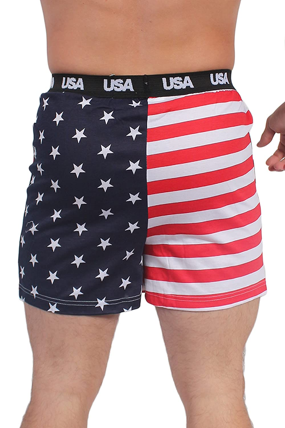 e28fb2c98d Exist MEN'S USA American Flag Patriotic USA Boxers Small at Amazon Men's  Clothing store: