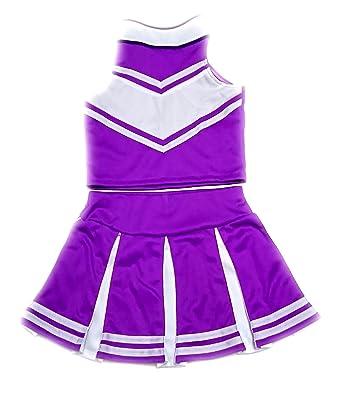 amazon com children girls cheerleader cheerleading uniform costume