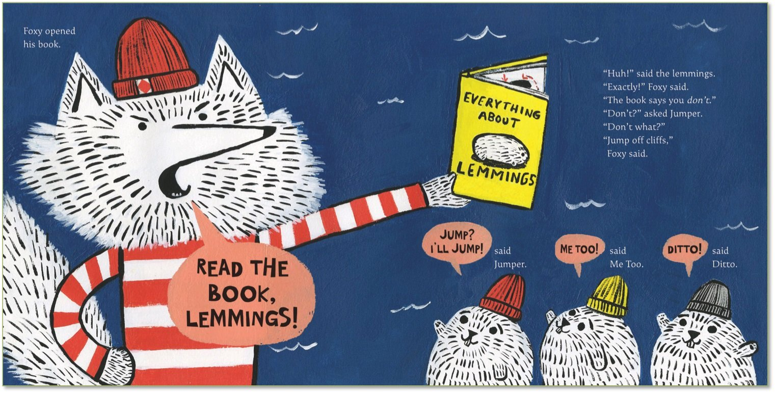 "Image result for ""Read the book, lemmings"" -"