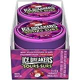 ICE BREAKERS Sours Mints, Strawberry, Berry Splash, Cherry, 6 Count
