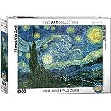 "Puzzle 1000 pezzi 19,25 ""X26.5""-Van Gogh - notte stellata"