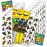 Lego Batman Stickers Party Favors Pack - 16 Sheets of Lego Batman Stickers Bundled with 2 Specialty Separately Licensed GWW Reward Sticker