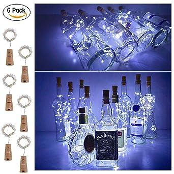 6 Stuck Led Flaschenlichter Lichterketten Enjoydeal 200cm 79in
