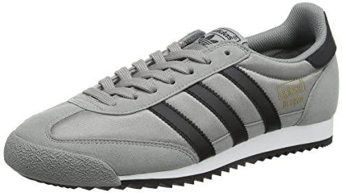 watch 6988b 8c5fb adidas Dragon Og, Scarpe da Ginnastica Basse Uomo, Grigio (Ch Solid Grey core  Black footwear White), 46 EU  Amazon.it  Scarpe e borse