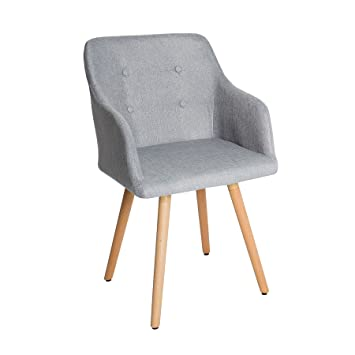 Design Stuhl Grau Scandinavia Meisterstuck Buche Gestell Hellgrau