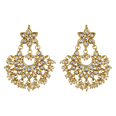 Buy Jewellity Kundan And Pearl Golden White Party Wear Wedding