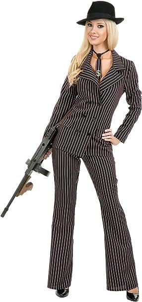 Amazon.com: Charades traje Gangster Moll para mujer disfraz ...